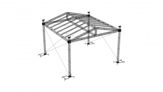 Ground Support Truss Structure