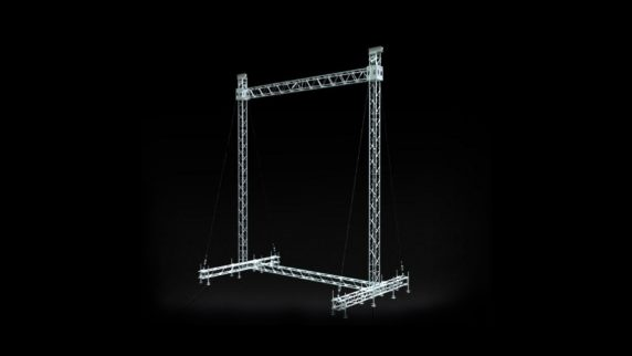 LED Screen Support with Ground Anchors